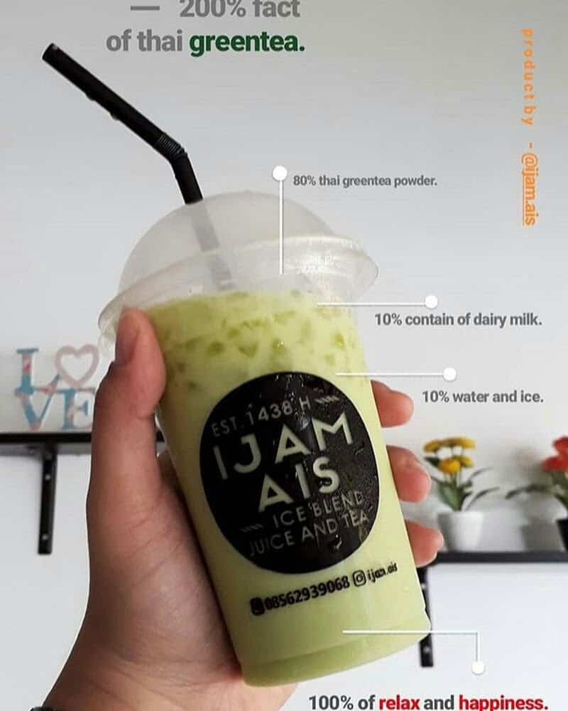 Ijam Ais Ice Blend, Juice and Tea